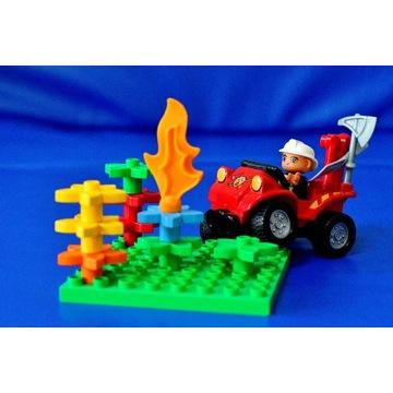 strażak - pożar buszu