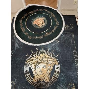Dwa dywany styl versace meduza dywan zielony nowy