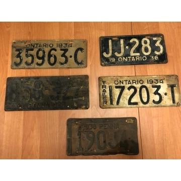 Stare tablice rejestracyjne 1926r - Unikatowe