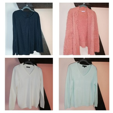Zestaw paczka swetrów Zima L XL 42