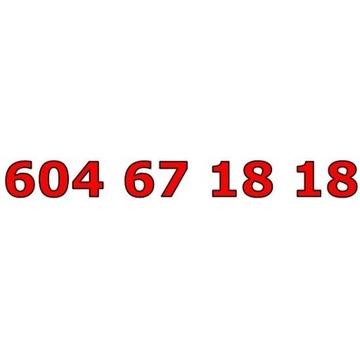 604 67 18 18 T-MOBILE ŁATWY ZŁOTY NUMER STARTER