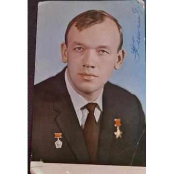 Autograf kosmonauty Aleksiej Jelisiejew