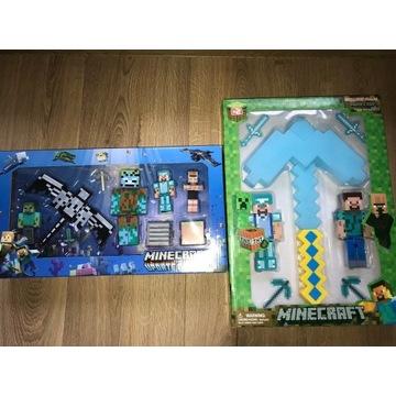 Duży zestaw figurki minecraft Utopiec smok + kilof
