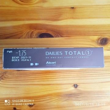 Alcon Dailies Total 1, 90 szt.  -1,75