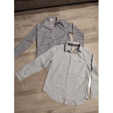 Koszule z długim rękawem H&M r.140 jak nowe