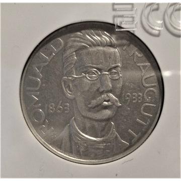 1933 R.TRAUGUTT 10 Złotych, AU 50, w slabie