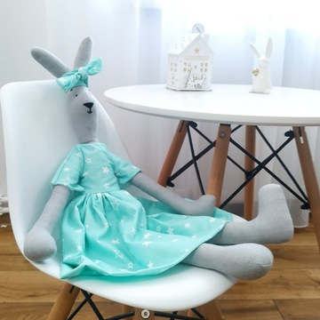 Królik 100% ręcznie robiony handmade lalka zabawka
