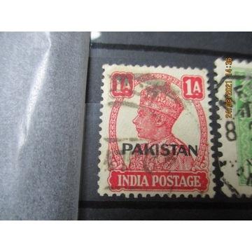 stary znaczek INDIE nadruk PAKISTAN