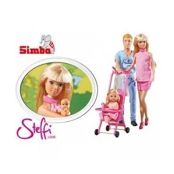 Lalka Steffi w ciąży + Kevin Evi spacerówka  SIMBA