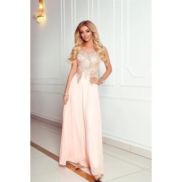 Suknia Camilla śliczna, zdobiona, lekka zwiewna