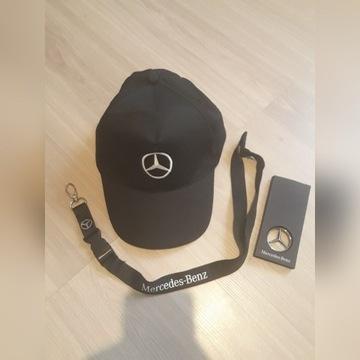 Zestaw  Mercedesa ( Czapka , smycz i brelok )