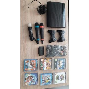 PlayStation 3,+6 gier+2 pady+1 move+2 mikrofony