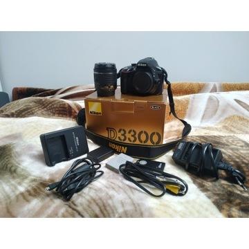 Nikon d3300 + obiektyw + akcesoria