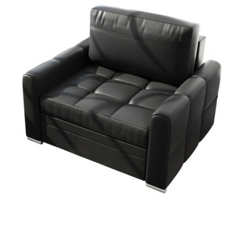Fotel czarny VERONA 100cm