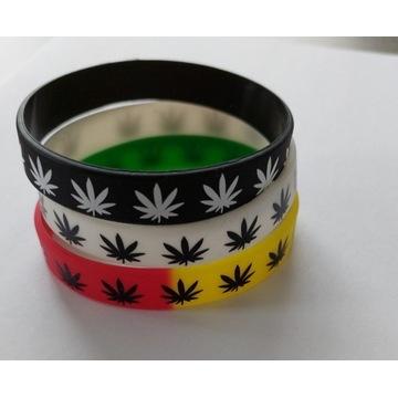 Opaska silikonowa na rękę Ganja CBD Marihuana