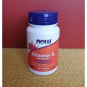 Now Foods Vitamin A, 10,000 IU, 100 kaps. żel.