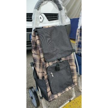 Wózek zakupowy mocna torba zakupowa na kółkach