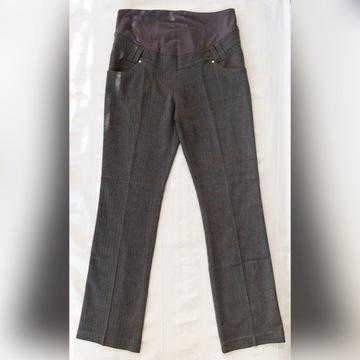 Eleganckie spodnie ciążowe szare C&A rozm. 38