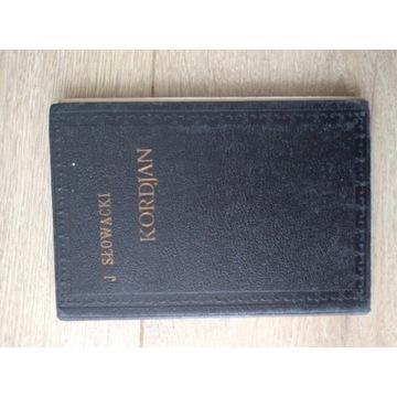 Książka J.Słowacki Kordjan część pierwsza  1922