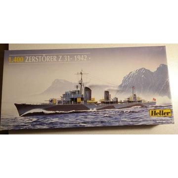 Niszczyciel Z31 1942 model firmy Heller 1/400