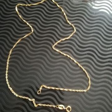 Złoty łańcuszek 43cm próba 585