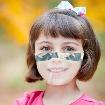 Mini przyłbica dla dzieci kolorowa tkanina