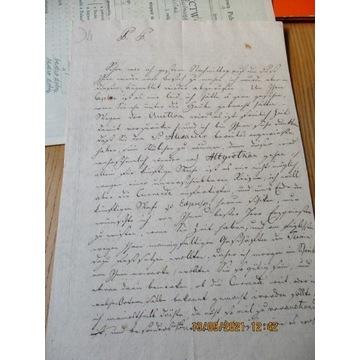 stary list w języku chyba niemieckim(?) 1812 r.