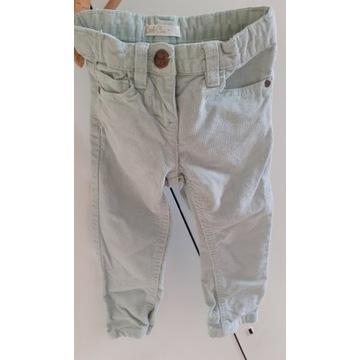 Spodnie sztruksowe cool club rozmiar 92