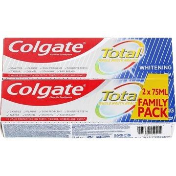 Colgate Total Whitening dwupak 2x75ml wybielająca