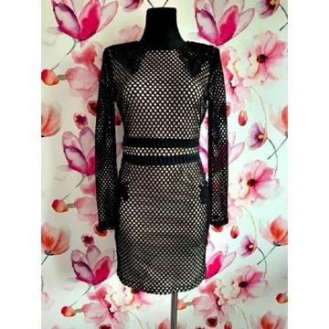 missguided sukienka siateczka gipiura hit roz.38