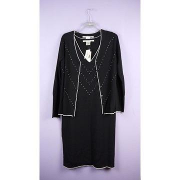 Komplet sukienka + kardigan dżersej Max Studio 40/