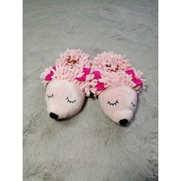 Kapcie bambosze jeżyki rozmiar 28 różowe
