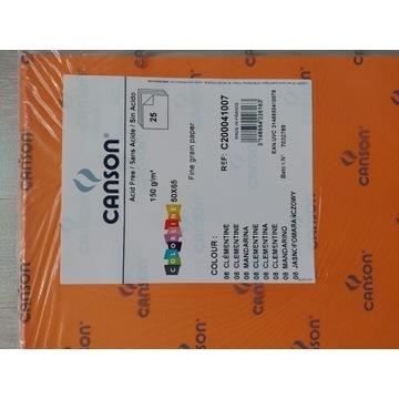 Canson karton 50x65 cm 08 pomarańcz