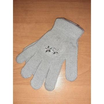Nowe rękawiczki damskie dla dziewczynki 17 18cm S