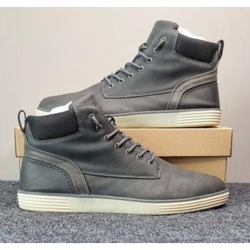 Buty - Pier One - Sneakersy Wysokie Szare R.45