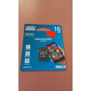 Karta pamięci MicroSDHC GOODRAM 16GB Class4 + Adap