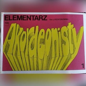 Fedyczkowski J: Elementarz akordeonisty – 1 – 1988