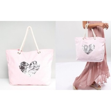 Firmowa,bogato zdobiona torebka,torba plażowa/NOWA