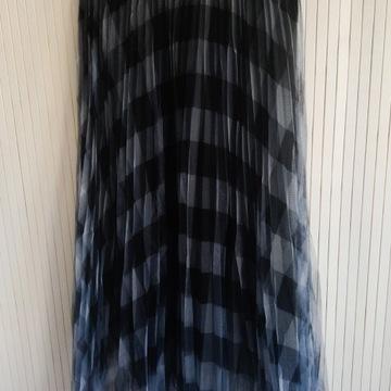Spódnica midi krata plisowana