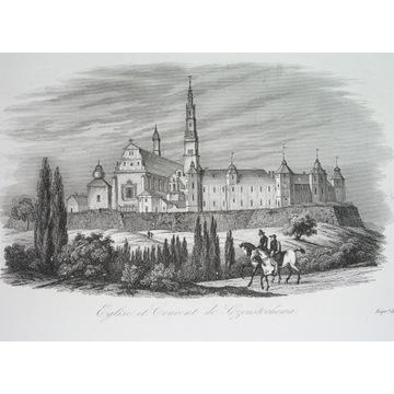 1836 CZĘSTOCHOWA KLASZTOR Jasna Góra oryginał