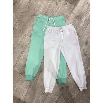 Najnowsze spodnie dresowe by o la la białe M