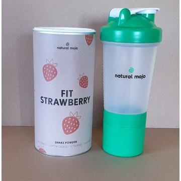 NATURAL MOJO SHAKE - Zestaw Strawberry + shaker