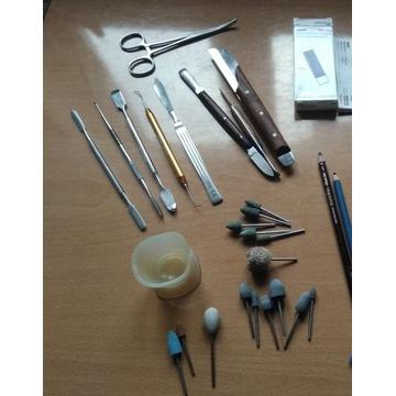 Zestaw narzędzi studenta technik dentystycznych