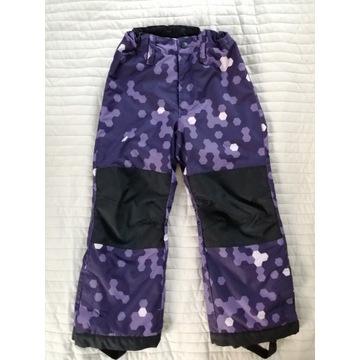 Ocieplacze, spodnie ocieplane,narciarskie 122 cm.