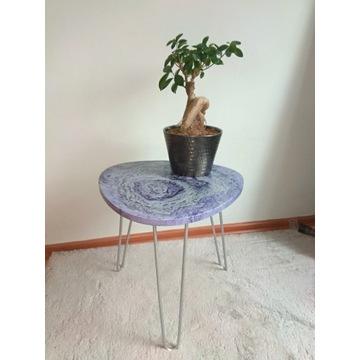 Stolik kawowy, ręcznie malowany, nowy
