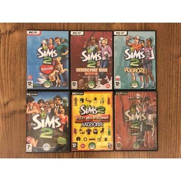 The Sims 2 zestaw 5 dodatków czytaj opis