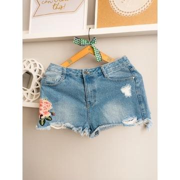 Spodenki Missquided L 40 Waist Wysoki Stan Jeans