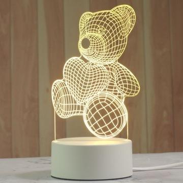Lampka 3D miś