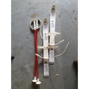 Plastikowe narty dla dzieci Marmat 60cm