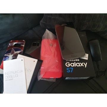 SAMSUNG GALAXY S7  onyx black stan BDB.dodatki
